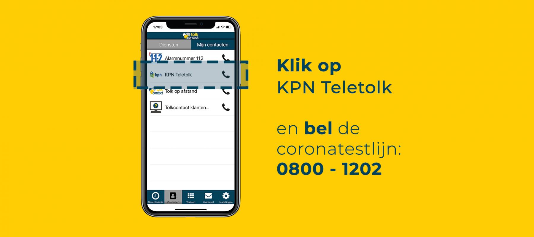 KPN teletolk in de app