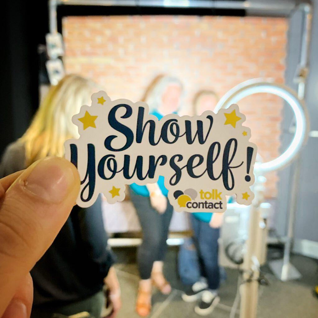 show yourself-magneet voor photobooth